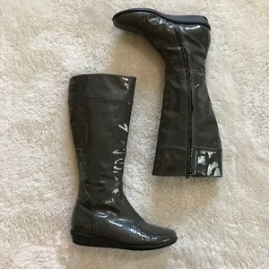 Cole Haan Nike Patent Leather Waterproof Boots 6.5